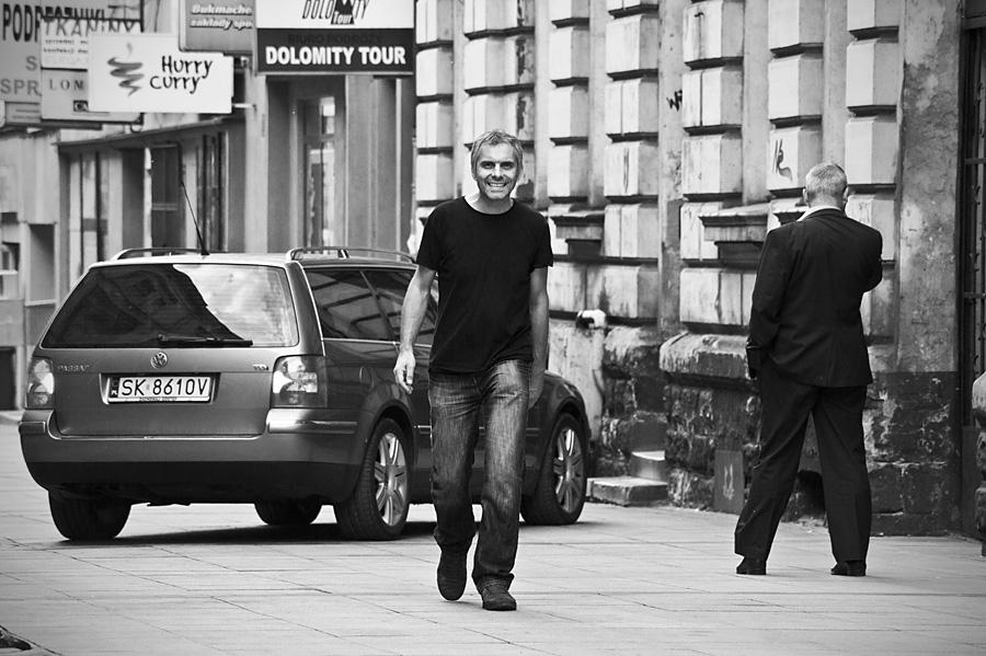 Artur Rychlicki spacerujący poKatowicach ;) - fot.Daniel Wencel