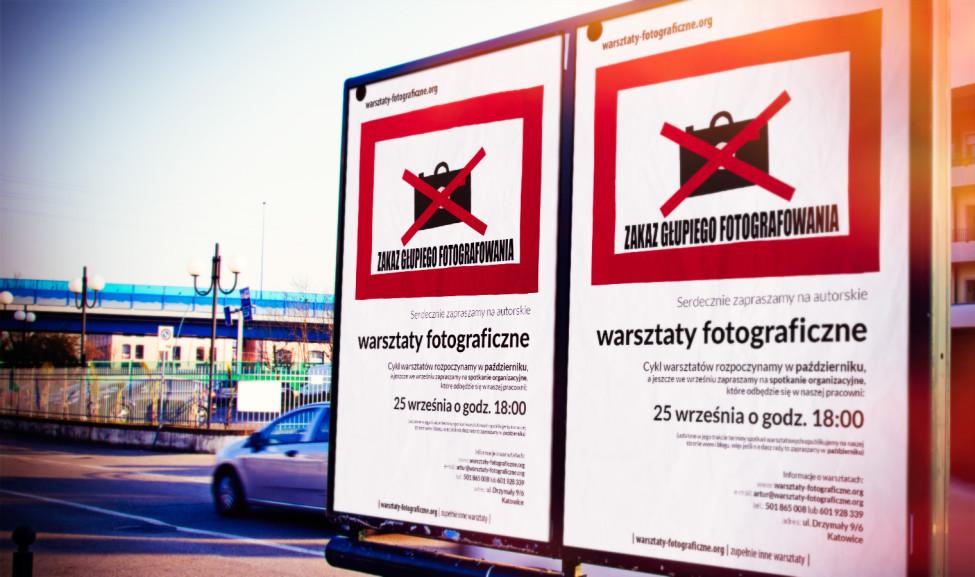 Plakatowanie okolicy - warsztaty fotograficzne w Katowicach